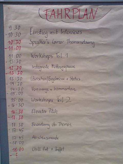 Fahrplan des CoreMedia OpenSpace